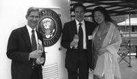Steve Poizner (WHF 01-02), Howard Zucker (WHF 01-02) and Tina Choi (WHF 01-02) on board the Sequoia residential yacht