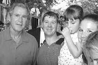President Bush with Bill Thornton ('02-03) and his daughter Victoria Thornton at the White House Tee Ball Game.