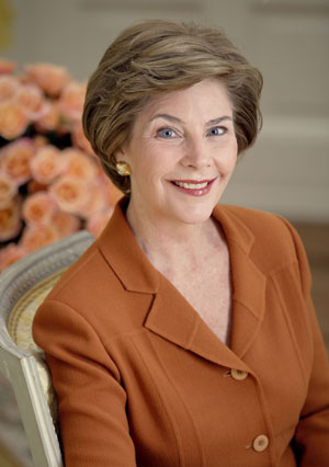 Mrs. Laura Bush, First Lady of the United States, January 2001 - January 2009. White House photo by Krisanna Johnson