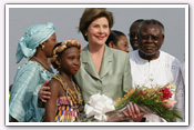 Link to Mrs. Bush's Visit to West Africa