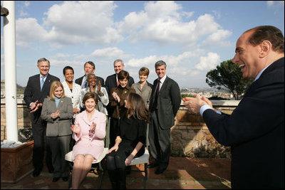 Mrs Bush S Visit To Italy 2006
