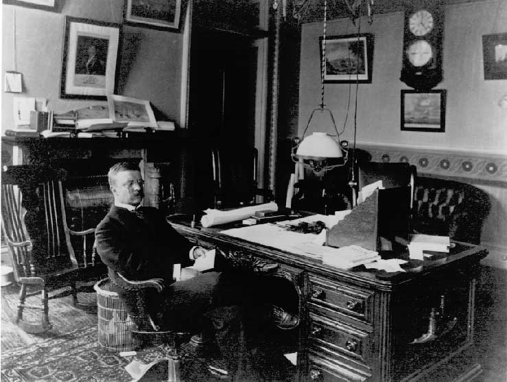 Photo of Thedore Roosevelt when he served as Assistant