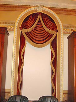 The restored window curtains.