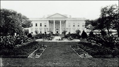 Pictured is the North Portico as it looked in 1900.