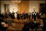 Students from the Duke Ellington School of Arts perform for the President at the Celebration of African-American Music, History and Culture in the East Room May 28, 2002.
