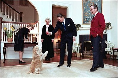 vice president s residence historical photo essay then president ronald reagan and nancy reagan spend an evening then vice president george h w