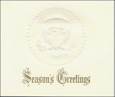 Presidential greeting cards 1953 white house formal holiday card m4hsunfo