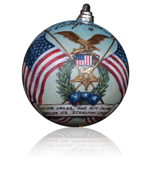 California Congressman Duncan Hunter selected artist Mark Martensen to decorate the 52nd District's ornament for the 2008 White House Christmas Tree.