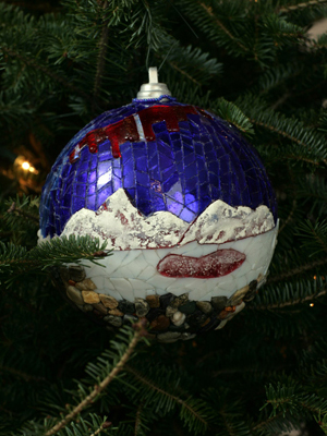 Alaska Senator Lisa Murkowski selected artist Judy Warwick to decorate the State's ornament for the 2008 White House Christmas Tree