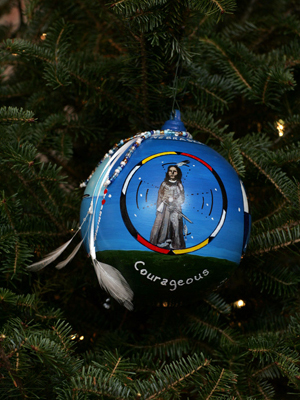 Nebraska Congressman Lee Terry selected artist Kym Johnson Rutledge to decorate the 2nd District's ornament for the 2008 White House Christmas Tree.