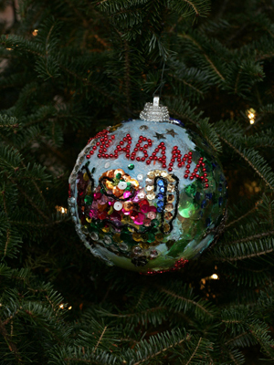 Alabama Congressman Jo Bonner selected artist Eugenia Foster to decorate the 1st District's ornament for the 2008 White House Christmas Tree.