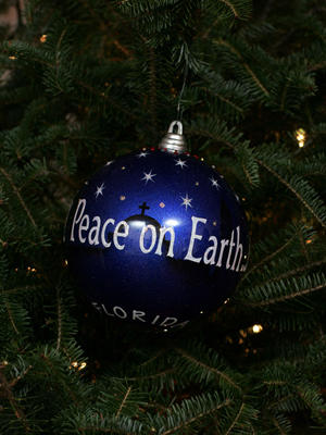 Florida Congressman Ric Keller selected artist Sue Thompson to decorate the 8th District's ornament for the 2008 White House Christmas Tree