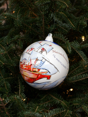 Massachusetts Senator John Kerry selected artist Robert Guillemin to decorate the State's ornament for the 2008 White House Christmas Tree.