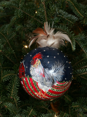 Delaware Senator Joe Biden selected artist Christina Gioffre to decorate the State's ornament for the 2008 White House Christmas Tree