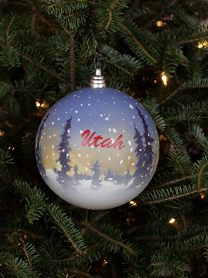 Utah Congressman Rob Bishop selected artist Jeff Hepworth to decorate the 1st District's ornament for the 2008 White House Christmas Tree
