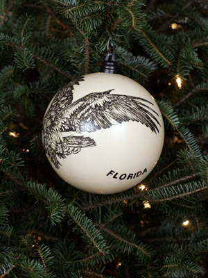 Florida Congressman Cliff Stearns selected artist Helynn Byers to decorate the 6th District's ornament for the 2008 White House Christmas Tree.
