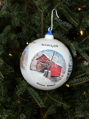 Maryland Congressman Roscoe Bartlett selected artist Harry L. Richardson to decorate the 6th District's ornament for the 2008 White House Christmas Tree.