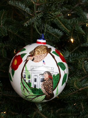 Alabama Congressman Spencer Bachus selected artist Alexandria Todd to decorate the 6th District's ornament for the 2008 White House Christmas Tree.