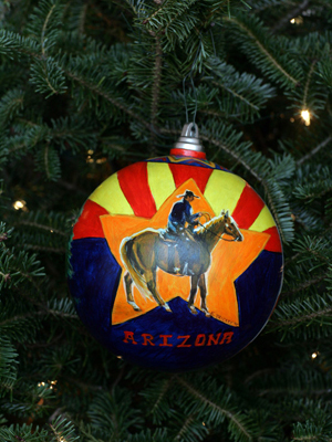 Arizona Congressman Rick Renzi selected artist Kim Trickey to decorate the 1st District's ornament for the 2008 White House Christmas Tree.