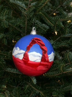 Utah Congressman Jim Matheson selected artist Kindra Fehr to decorate the 2nd District's ornament for the 2008 White House Christmas Tree