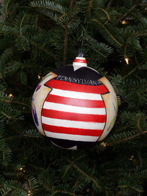 Pennsylvania Congressman Phil English selected artist Lee Steadman to decorate the 3rd District's ornament for the 2008 White House Christmas Tree.