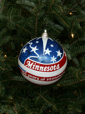 Minnesota Congressman John Kline selected artist Roger McGaughey to decorate the 2nd District's ornament for the 2008 White House Christmas Tree.