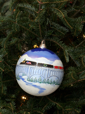 Pennsylvania Congressman Chris Carney selected artist Carol Angela Brown to decorate the 10th District's ornament for the 2008 White House Christmas Tree.