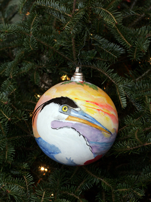 Florida Congresswoman Ginny Brown-Waite selected artist Wanda McVeigh to decorate the 10th District's ornament for the 2008 White House Christmas Tree.