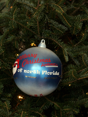 Florida Congressman Ander Crenshaw selected artist Duffy Soto to decorate the 4th District's ornament for the 2008 White House Christmas Tree.