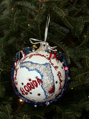 Florida Congressman Alcee Hastings selected artist George Gadson to decorate the 23rd District's ornament for the 2008 White House Christmas Tree.