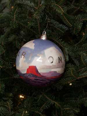 Arizona Senator Jon Kyl selected artist Ed Mell to decorate the State's ornament for the 2008 White House Christmas Tree.