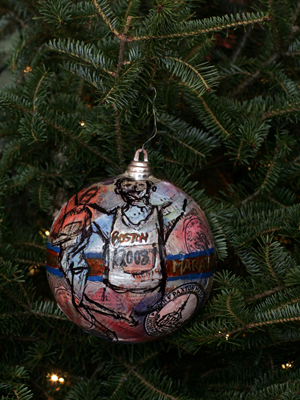 Massachusetts Congressman James McGovern selected artist Kelley Cintra to decorate the 3rd District's ornament for the 2008 White House Christmas Tree.