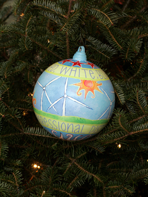 Pennsylvania Congressman Patrick Murphy selected artist Lisa Beth Weber to decorate the 8th District's ornament for the 2008 White House Christmas Tree.