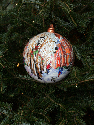 Massachusetts Congressman Rich Neal selected artist Susan Pecora to decorate the 2nd District's ornament for the 2008 White House Christmas Tree.