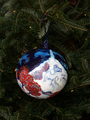 Nebraska Congressman Adrian Smith selected artist Audrey Towater to decorate the 3rd District's ornament for the 2008 White House Christmas Tree.