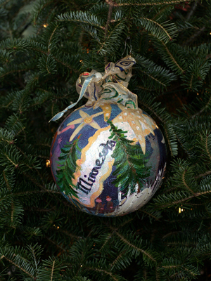 Minnesota Congressman Jim Ramstad selected artist Andrea Engler to decorate the 3rd District's ornament for the 2008 White House Christmas Tree
