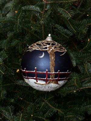 Massachusetts Congressman Mike Capuano selected artist Jessica Swegel to decorate the 8th District's ornament for the 2008 White House Christmas Tree.
