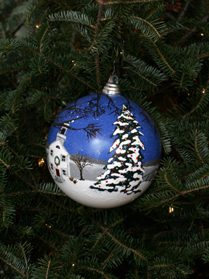 Nebraska Congressman Jeff Fortenberry selected artist Kasey Goughen to decorate the 1st District's ornament for the 2008 White House Christmas Tree