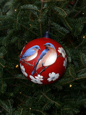 Missouri Congresswoman Jo Ann Emerson selected artist Cleda Curtis-Neal to decorate the 8th District's ornament for the 2008 White House Christmas Tree