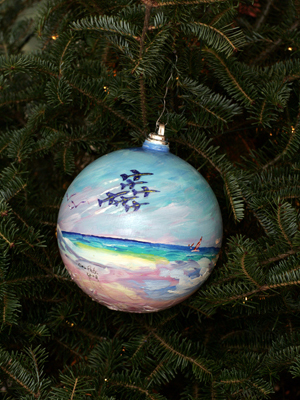 Florida Congressman Jeff Miller selected artist Nina Fritz to decorate the 1st District's ornament for the 2008 White House Christmas Tree.