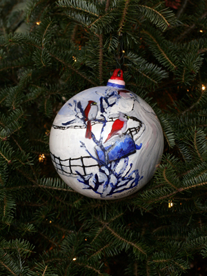 Maryland Congressman Dutch Ruppersberger selected artist Britnie Walston to decorate the 2nd District's ornament for the 2008 White House Christmas Tree.
