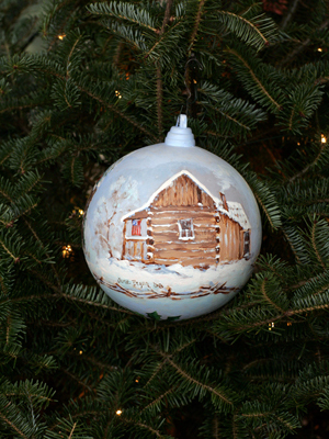 Indiana Congressman Baron Hill selected artist June Bryan to decorate the 9th District's ornament for the 2008 White House Christmas Tree.