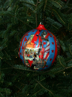 Missouri Congressman Lacy Clay selected artist Robert A. Powell to decorate the 1st District's ornament for the 2008 White House Christmas Tree.