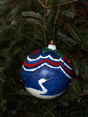 Florida Congressman Gus Bilirakis selected artist Sultana Volaitis to decorate the 9th District's ornament for the 2008 White House Christmas Tree.