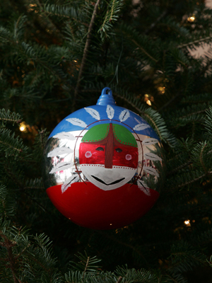 Alaska Senator Ted Stevens selected artist Perry Eaton to decorate the State's ornament for the 2008 White House Christmas Tree.