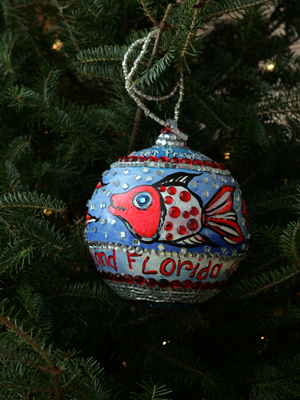 Florida Congressman Connie Mack selected artist Leoma Lovegrove to decorate the 14th District's ornament for the 2008 White House Christmas Tree.
