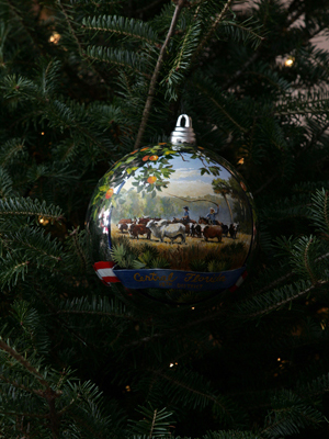 Florida Congressman Adam Putnam selected artist Thomas Brooks to decorate the 12th District's ornament for the 2008 White House Christmas Tree.