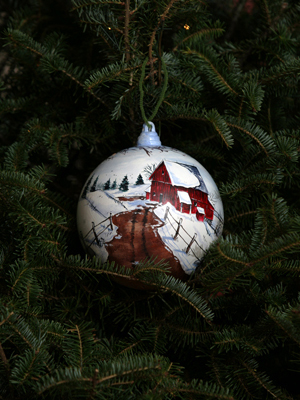 Indiana Congressman Mark Souder selected artist Walt Malicki to decorate the 3rd District's ornament for the 2008 White House Christmas Tree.