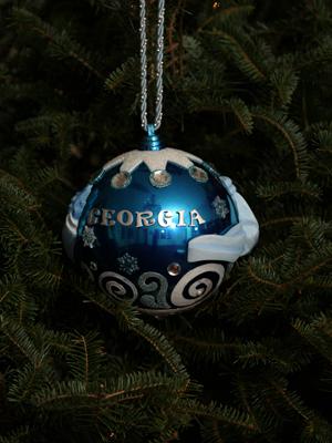 Ornaments representing georgia John lewis christmas ornaments