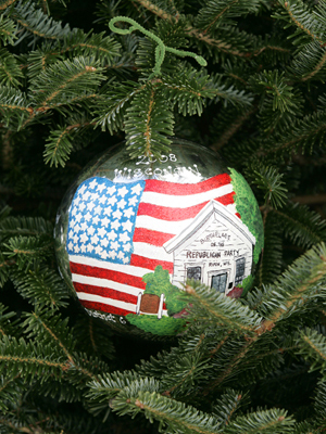 Wisconsin Congressman Tom Petri selected artist Emily Lund to decorate the 6th District's ornament for the 2008 White House Christmas Tree.